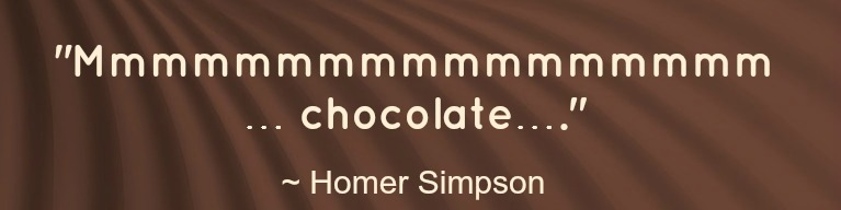 chocolate quote - homer simpson
